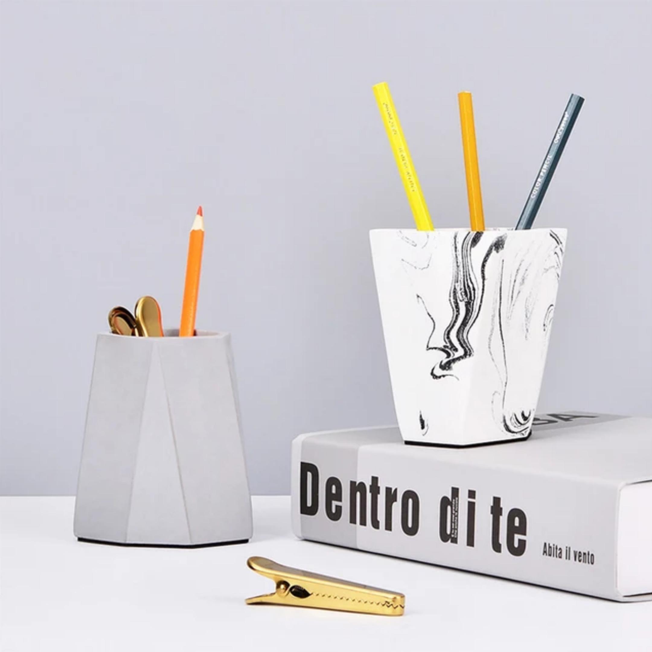 Personal art studio brush jar