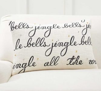 simple christmas decoration ideas for home - pillow cover