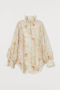 H&M exclusive collection Lyocell-blend Blouse
