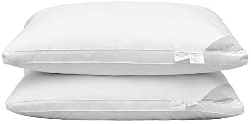 Puredown Natural Goose Down Feather Pillow Insert for Sleeping, 48x74cm-Set of 2- comfortable bed essentials
