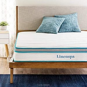 Linenspa 8 inch Memory Foam and Innerspring Hybrid Mattress - Full- comfortable bed essentials