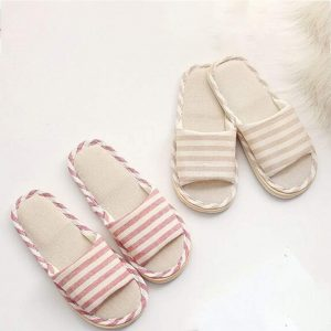 Summer linen slippers - best slippers for quarantine time