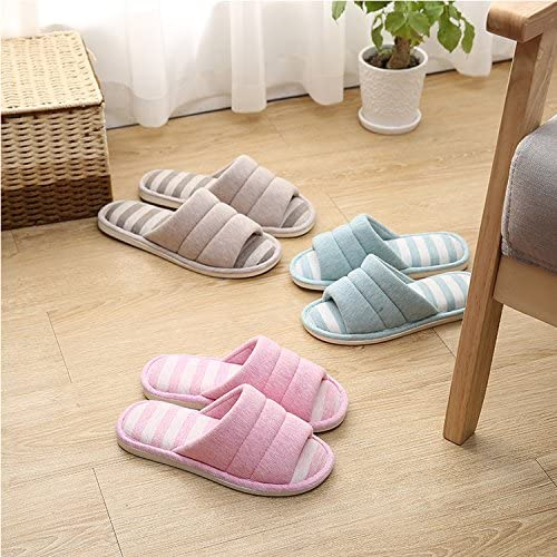 Open toe cotton comfortable slippers