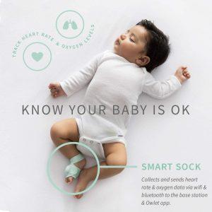 Smart baby gadgets - Owlet Smart Sock