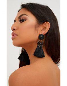 Black earrings- ethnic modern accessories