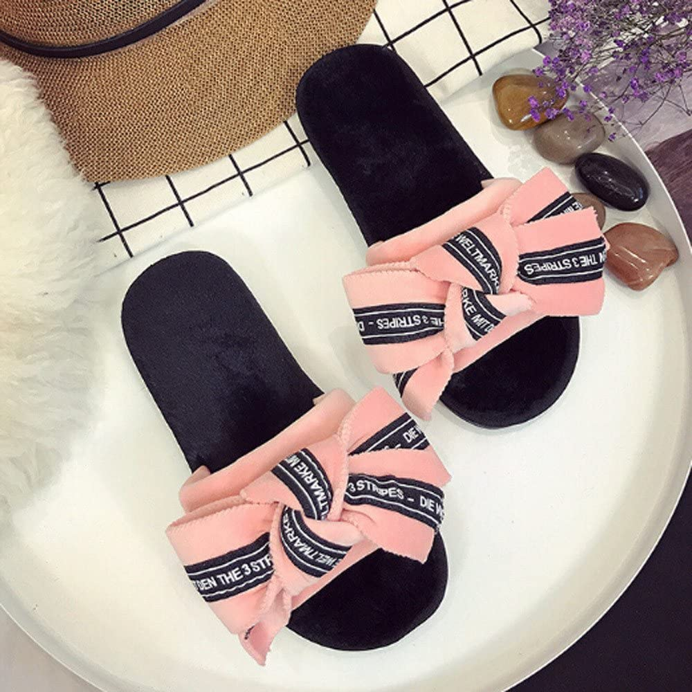 Bow tie slides - comfortable slippers
