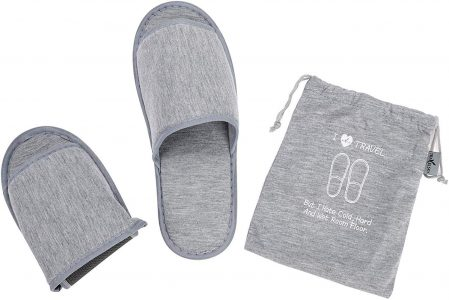 Portable comfortable slippers and a bag