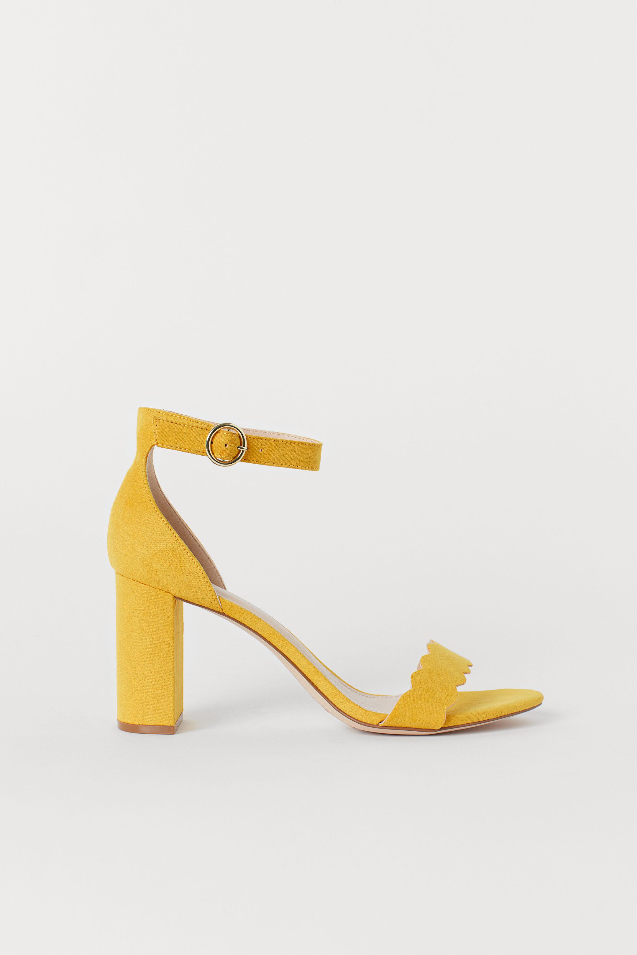 High heels shoes - Imitation Suede Sandals