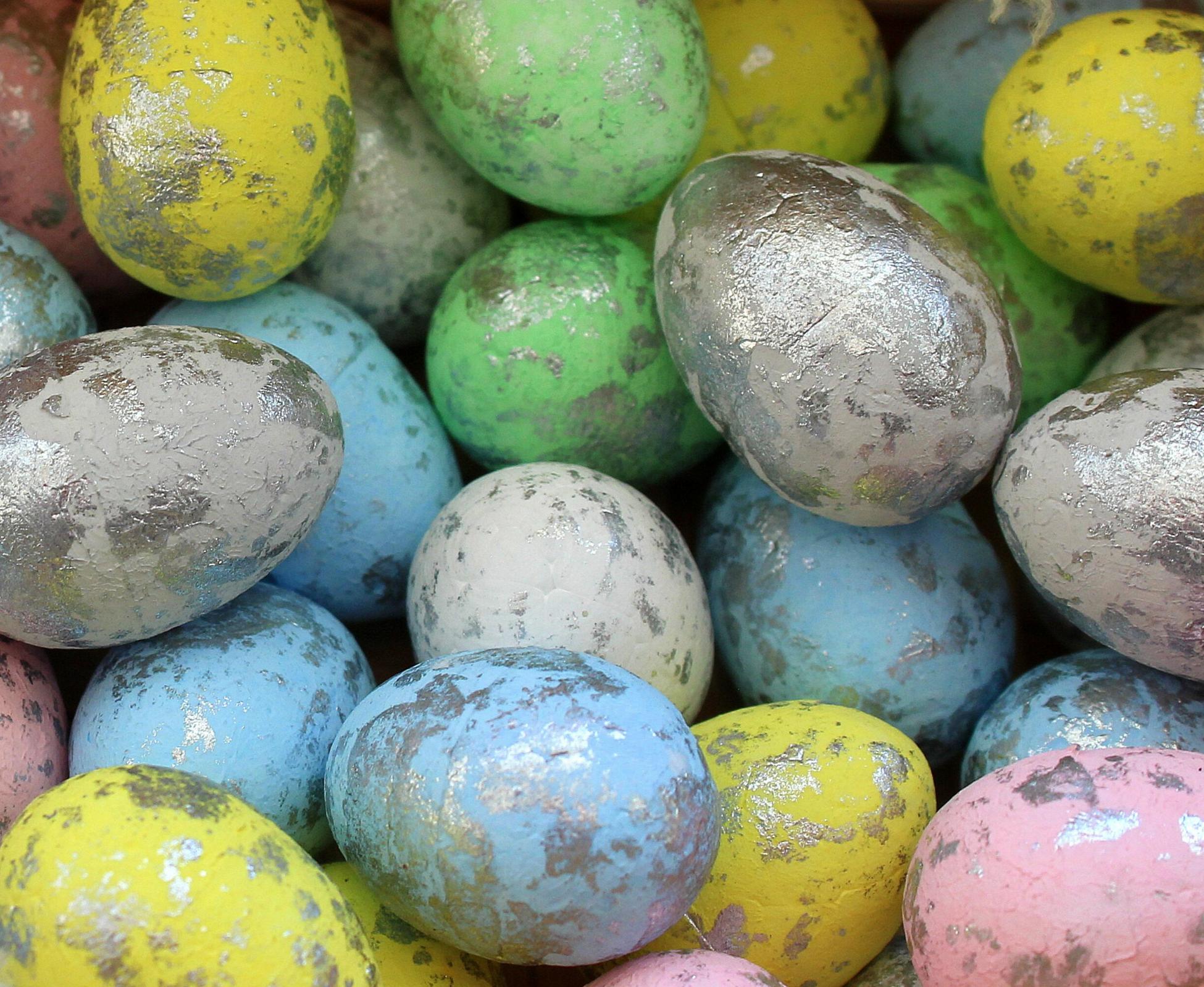 Easter egg hunt in Easter celebration