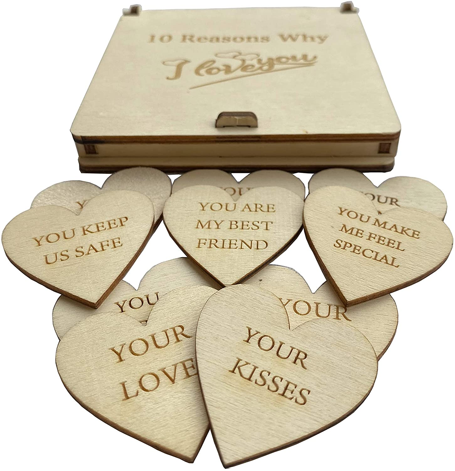 Valentine's day gift for her - wooden hearts