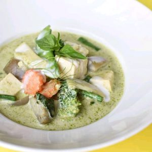Deliveroo food: Green Curry from Fuchsia Urban Thai