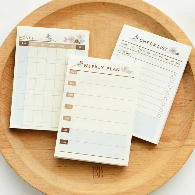 Products for forgetful people - daily schedule planner