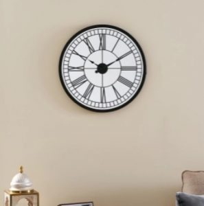 Jules Round Mirror Wall Clock- Wall decoration in Home living room
