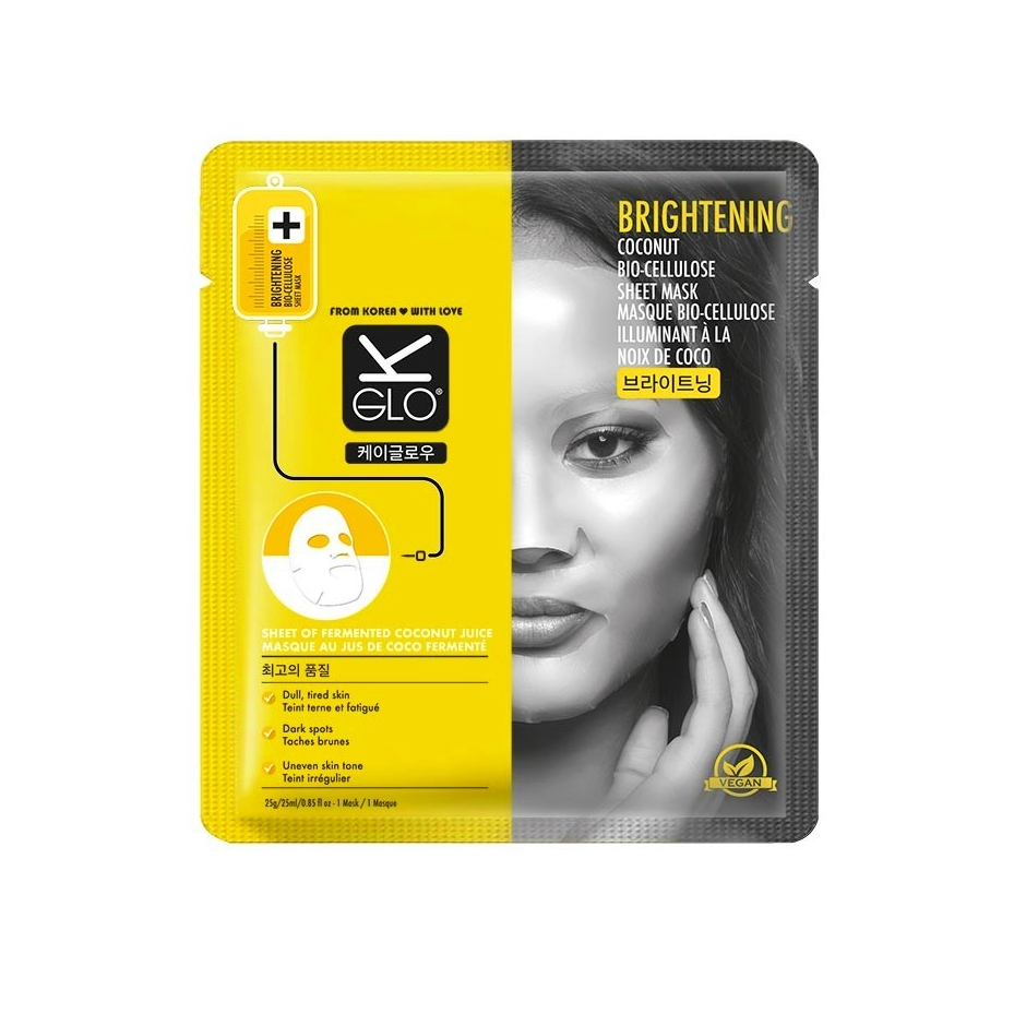 Korean Beauty Products - K-Glo Brightening Coconut Bio-Cellulose Sheet Mask
