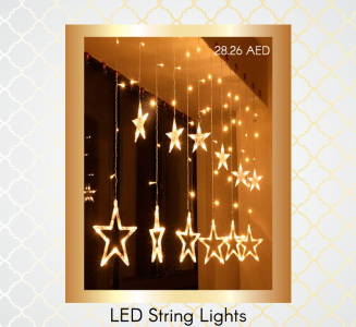 LED String Lights bought with Amazon coupon code