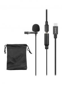 Cardioid Lavalier Lapel Clip-On Microphone 1D7775 Black- lapel microphones by boya for vlog
