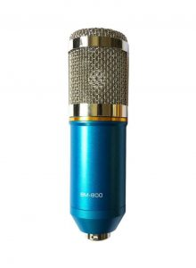 Condenser Microphone With Shock Mount BM-800 Blue- condenser microphone