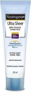 best sunscreen for oily skin in uae