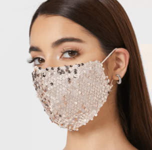 holiday outfits - Sequin Mask