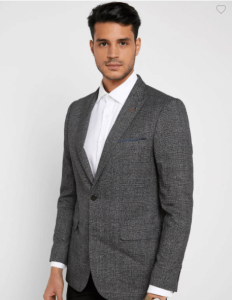 holiday outfits - Checked Skinny Fit Blazer