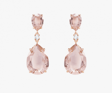 christmas presents for woman - Vintage Drop Rose Gold Earrings