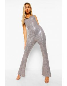 Holiday outfits - Sequin plunge jumpsuit