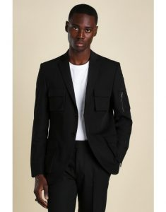 holiday outfits - Single-Breasted Utility Blazer