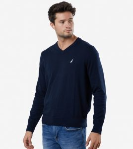 Holiday outfits Long-Sleeve V-neck Sweater