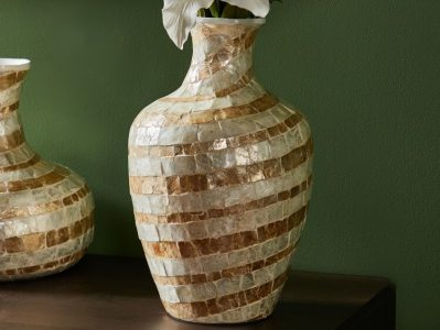 cchristmas presents for woman - Trouna Capiz Vase