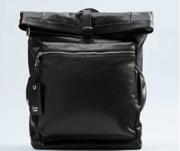 Weekender bags - Leather Backpack with Flap