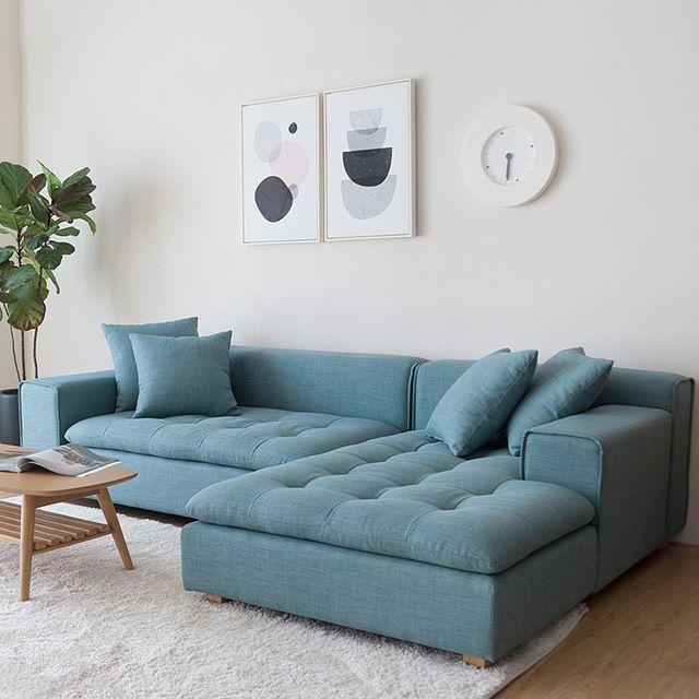 IF 8 L-shape Sofa-Blue from Homzmart