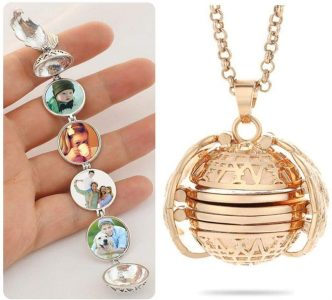 Valentine's day gift for her - Expanding photo locket