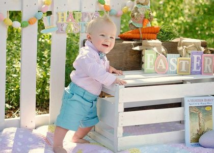 easter themed baby photoshoot