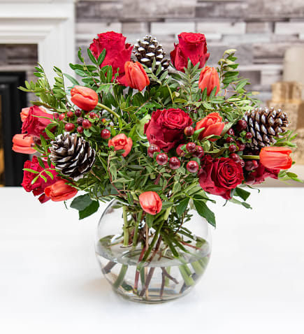 simple christmas decoration ideas for home - flowers