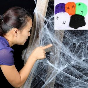 Cobwebs as a halloween party essentials