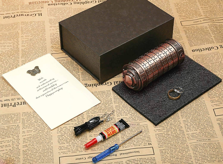 Valentine's day gift for her - Da Vinci Code Mini Cryptex
