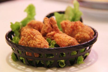 Deliveroo friend chicken bouquet