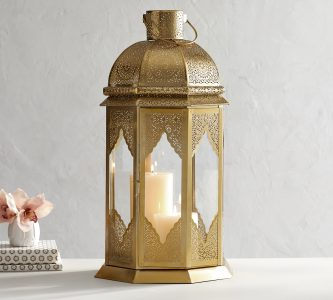 golden lantern Pottery Barn