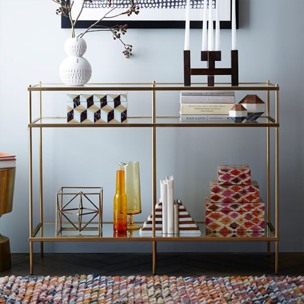 HS.CO.11 Steel Console - Gold from Homzmart