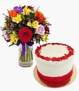 Cakes and Bouquets for Valentine's day 2019