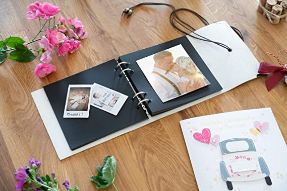 Velntine's day gift for her - Leather Scrapbook