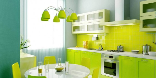 lime green kitchen styles