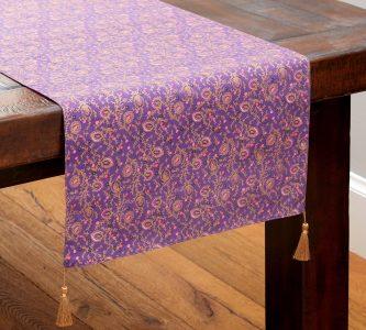 purple table cloth Pottery Barn VoucherCodesUAE