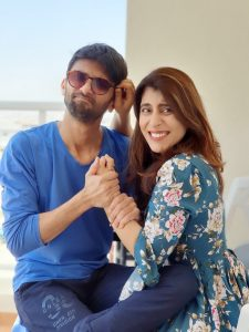 Saher and her husband - sunglasses UAE
