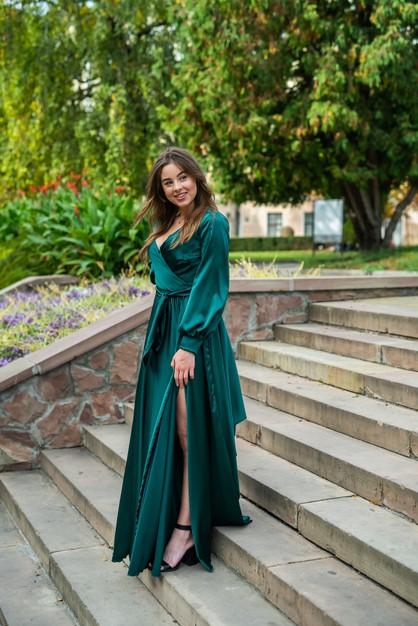 green silk dress for eid