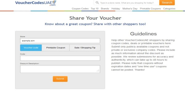 share coupon-vouchercodesuae