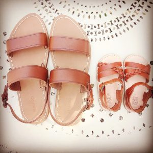 mother child baby shoes
