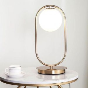 YL0096 Table Lamp-White & Gold - Homzmart lights